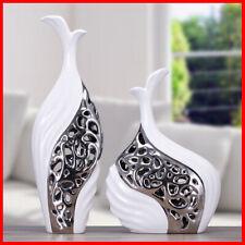 Ceramic Set of 2 Pottery Art Flower Plant Home Desk Office Vase 40CM J22