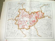 Carte forestière du Tarn et Garonne 62,5 x 48 cm 1910