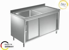 Spülschrank 1000 x 600 *Re 1 Becken* Spültisch Edelstahl Gastro Spüle Spülbecken