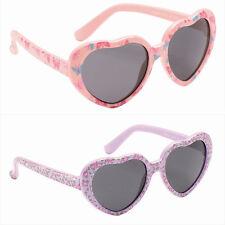 Kids Childrens Girls Fun Flower Love Heart Pink Purple Festival Tot Sunglasses