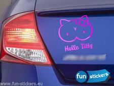 Hello Titty Aufkleber Sticker Shocker 10x10,5cm freie Farbwahl