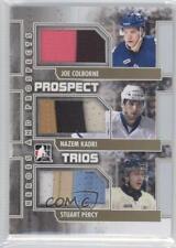 2011 Prospect Trios Gold PT-04 Joe Colborne Nazem Kadri Stuart Percy Hockey Card
