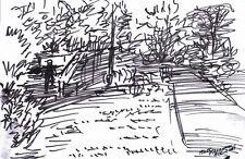 """GOING UP""by RUTH FREEMAN INK 6 1/2"" X 10"" ORIGINAL ART"