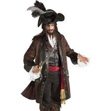 Adult DELUXE PIRATE Rum Runner Captain Blackheart Fancy Dress Costume Mens Bucan