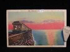 Vintage POSTCARD 1937 Cut-Off Sunset GREAT SALT LAKE UT