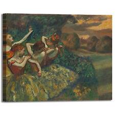Degas quattro ballerine design quadro stampa tela dipinto telaio arredo casa