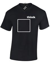 Pensare fuori dagli schemi Da Uomo T Shirt Divertente Design S - 5XL
