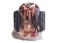 Damen Ring Zoe, Metall-Legierung, rhodiniert/geschwärzt, Zirkonia