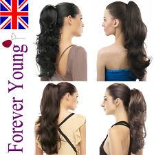 Wrap Around Mega Thick Ponytail Clip In Hair Extensions Real Fake Long Hair UK
