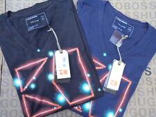 Nueva Hugo Boss Space Star signo constelaciones Jeans Bolsa Traje Negro Camiseta Azul
