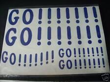 ADESIVI GO!!!!!!! KIT MOTO SCOOTER AUTO BICI STICKERS *