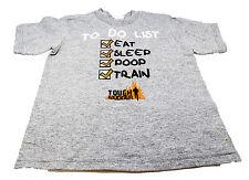 TOUGH MUDDER TO DO LIST KIDS EAT SLEEP POOP TRAIN TODDLER T SHIRT GREY COTTON K8