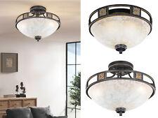 Runde Design Deckenlampen im Landhausstil aus Glas - dimmbare Wohnzimmerleuchten
