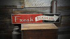 Vintage Fresh Eggs Arrow Wood Sign - Rustic Hand Made Vintage Wooden ENS1000193