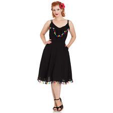 023679884944e Voodoo Vixen Retro Vintage Kleid Sommerkleid - Veronica Chiffon Quasten