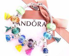 Authentic Pandora Sterling Silver Bracelet European Charm Disney Princess Dress