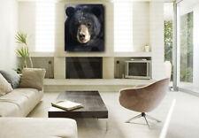 American Black Bear Head Art Canvas Poster Print Home Wall Decor