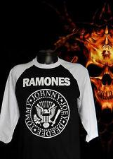 NEW!! RAMONES  PUNK ROCK BASEBALL TEE MEN'S SIZES