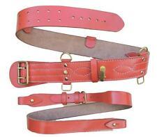 Dusty Orange Sam Browne Belt Cross Shoulder Strap Leather Brass Sam Brown R1993