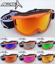 ALIAS RIVALE Motocross MX OCCHIALI ARANCIO con specchio Lenti + GRATIS