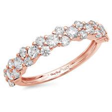 Wedding Anniversary Band 14k Rose Gold 1ct Round Cut Designer Bridal Promise