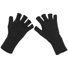 MFH Fingerlose Strick Handschuhe / Fingerfrei ohne Finger SCHWARZ Gr. S - XL NEU
