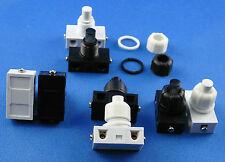 Einbau Druckschalter für Lampen 250V 2A Weiß oder Schwarz