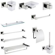 Stainless Steel Towel Rail Rack Robe Hook Soap Dish Toilet Bathroom Accessory