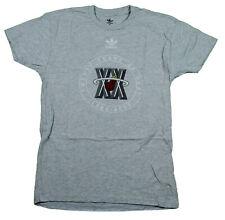 Adidas NBA Basketball Mens Miami Heat Short Sleeve Vintage T-Shirt, Grey