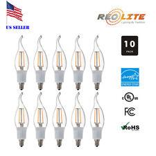 LED 30W Equivalent Flame Tip Chandelier Candelabra Filament Light Bulb 3W E12