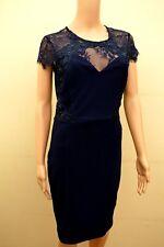 New Lipsy Flower 3D Lace Navy Dress Sz UK 12 7a6a4c2c5