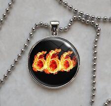 666 Number of the Beast Devil Satan Satanism Pendant Necklace