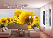 3D Sunflower Bloom 02 Wall Paper Wall Print Decal Wall AJ WALLPAPER CA