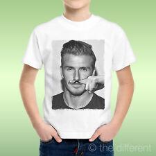 T-Shirt Baby Boy David Beckham Finger Mustache Mustache Funny Gift Idea