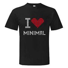 T-shirt MINIMAL MUSIC I LOVE  3 SOUVENIR maglietta maglia Uomo Man musica