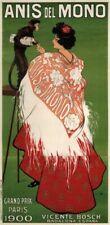 Vintage Advertisment Poster Anis Del Mono WIA118 Art Print A4 A3 A2 A1