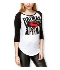 Bioworld Womens Batman V Superman Baseball Graphic T-Shirt