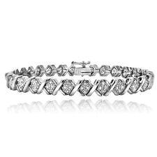 1.00ct TDW Diamond X Design Tennis Bracelet