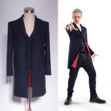 Doctor Who 12th Dr. Dark Blue Frock Coat + Vest Set Costume <Custom Made> Suit