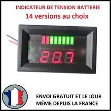 INDICATEUR DE TENSION LED 12V 24V 36V 48V 60V BATTERIE CHARGE VOLTMÈTRE VOLT V