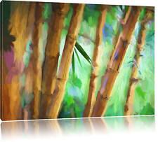 brauner Bambus Leinwandbild Wanddeko Kunstdruck