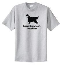 Gordon Setter Dog Forever in my heart w/ Name T-shirt Choice