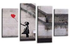 Banksy Picture Print Wall Art Red Balloon Girl Graffiti Hope Love Peace Split