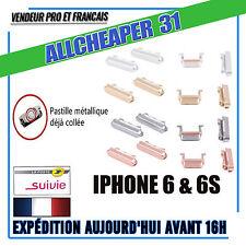 Bouton power volume vibreur Iphone 6 avec pastille métal collé IPHONE 6