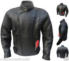 CE ARMOURED Leather Motorcycle Motorbike Racing Jacket