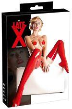 Sexy Calze autoreggenti in Lattice Rosso LateX Party Sexy shop abbigliamento