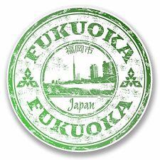 2 x 10cm Fukuoka Japan Sticker Decal Luggage Suitcase Travel Label Laptop #9706