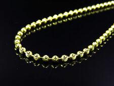 Plata De Ley 925 14k Acabado Oro Amarillo Sólido Cadena Corte Luna Collar 4mm