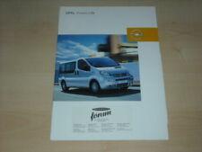 34059) Opel Vivaro Life Prospekt 2003