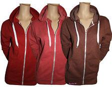 Ladies Fleece Plain Hoodie Unisex Casual Hooded Zipper Sweats Tops Jumpers S-XXL